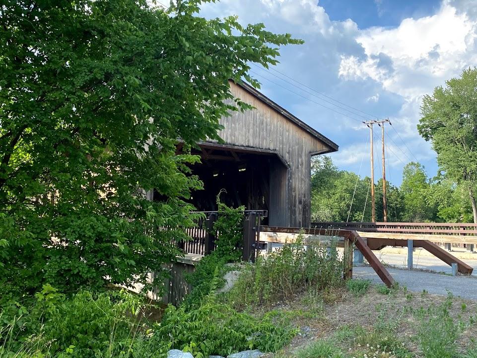 Pepperell Covered Bridge in East Pepperell, Massachusetts